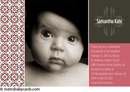 Photo baptism invitations