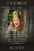 Wild Things invitation