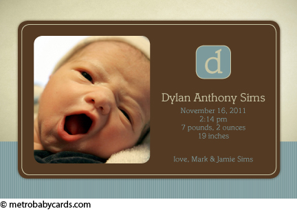 dylan photo birth announcement