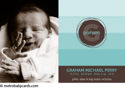 Graham birth announcement