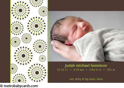 Judah birth announcement