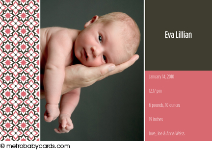 Eva birth announcement