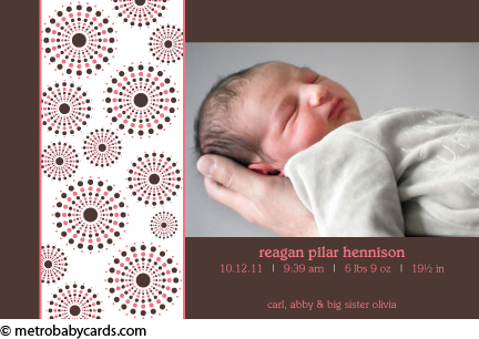 photo birth announcement regan design