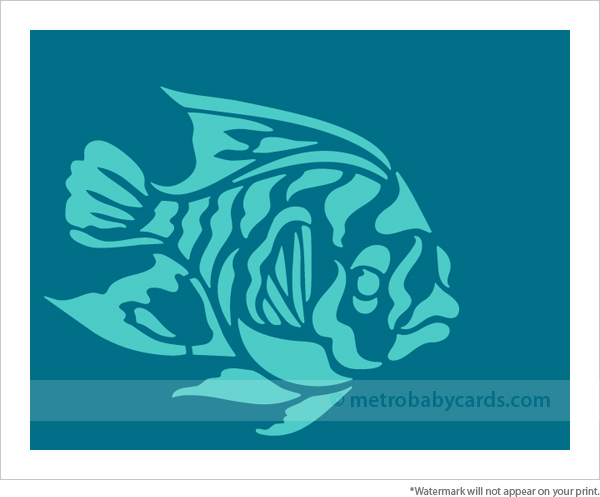 Fish nursery wall art