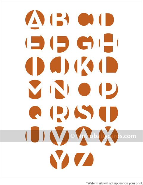 modern alphabet nursery art